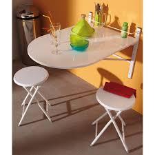 table de cuisine avec tabouret table murale sinai pliable avec 2 tabourets achat vente table