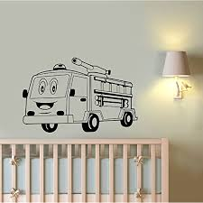 Cartoon Fire Truck Wall Sticker Firefighter Car Engine Vinyl Decal ... Fire Truck Cake How To Cook That Engine Birthday Youtube Uncategorized Bedroom Fniture Ideas Themed This Is The That I Made For My Sons 2nd Charming Party Food Games Fire Fighter Party Fireman Candy Wrappers Decorations Instant Download Printable Files Projects Idea Of Wall Art Home Designing Inspiration With Christmas Lights Delightful Bright Red Toppers
