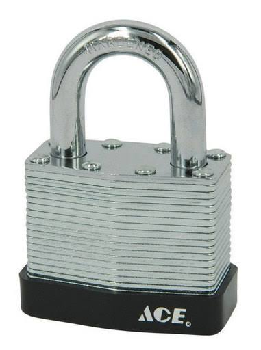 Ace Laminated 5-Pin Padlock, 2.37""
