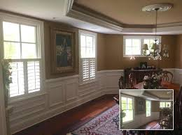 Dining Room Blinds Ideas Roman Curtain Asap Before After Shots Of Cafe Shutters In A Splendid