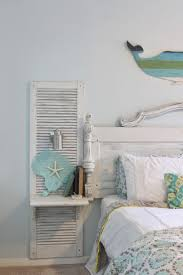 Beach Bedroom Ideas by Shabby Chic Beach Bedroom Awesome Shutter Nightstands Built Onto