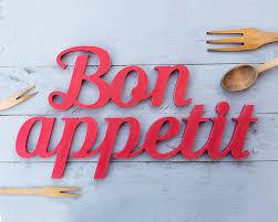 lettre cuisine en bois bon appé signe en bois décor de cuisine restaurant bar