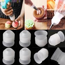10Pcs Plastic Decorating Mouth Converter Adapter Confectionery Pastry Tips Connector Nozzle Sets Cake Decoration Tools Baking