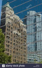 100 Skyward Fairmont Reflections Of Buildings In Downtown Vancouver Canada Stock