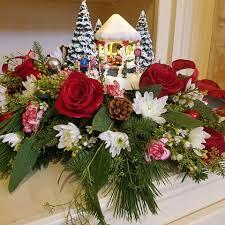 Thomas Kinkade Christmas Tree Teleflora by Thomas Kinkade Christmas Centerpiece For 2016 Dalton Flowers