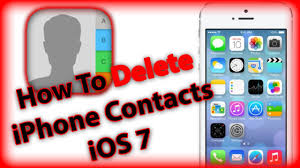 How To Delete Contacts iPhone 5s 5c 5 4s and 4 With iOS 7