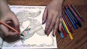 ASMR Fine Tip Marker Coloring In The Lost Ocean By Johanna Basford Art Sounds