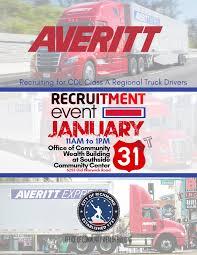 100 Recruiting Truck Drivers Averitt Express Recruitment Event Virginia Employment Commission