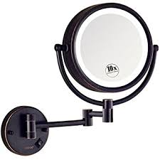 gurun led lighted wall mount makeup mirror with 10x