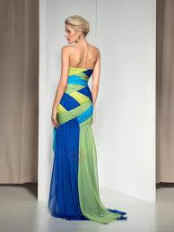 dress four kinds color split evening gowns chepa colorful prom