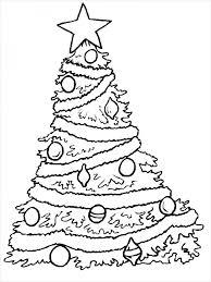 Free Christmas Tree Printable Coloring Page