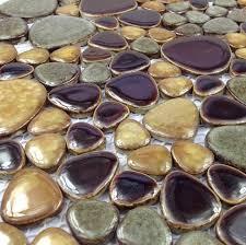 porcelain pebble mosaic tile kitchen backsplash bathroom swimming