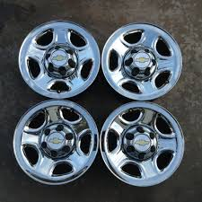 100 Oem Chevy Truck Wheels 9908 Set Of 4 Rims Silverado Sierra 16 Chrome Steel