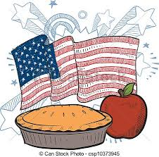 As American As Apple Pie Sketch Vector
