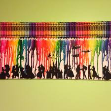 Crayon Art With Disney Silhouettes