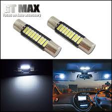 2pcs xenon white 29mm 6614f fuse style 9 smd led replace bulb car