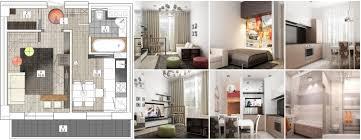 design einzimmerwohnung 46 qm m 50 fotos innenbeispielen