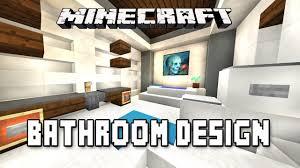 minecraft tutorial how to make a modern bathroom design modern