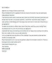 Cover Letters For Career Change Letter Application