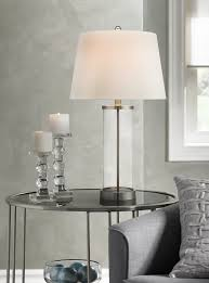 Fillable Table Lamp Base by Glass And Steel Cylinder Fillable Table Lamp Lamps With A