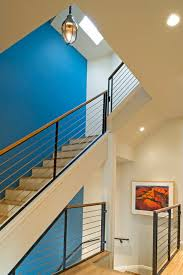 Good Looking Banisters Look San Francisco Contemporary Staircase Image Ideas With Accent Wall Banister Blue Ceiling
