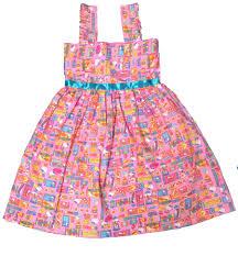 baby pink flower printed summer frocks 4yrs shophandmades