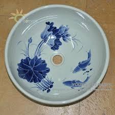 bemalte keramik porzellan orientalische dekorative badezimmer waschbecken mit arbeitsplatte buy dekorative bad sinkt handbemalte keramik