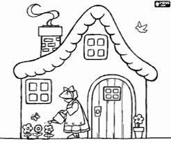 coloriage maisons à imprimer