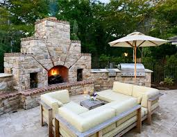 Outside Fireplace Designs Patio Traditional with New Old House