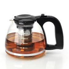 Glass Teapot Transparent Coffee Pot Pyrex With Infuser