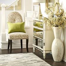 White Wooden Painted Living Room Pearl Vase Big Floor Flower Idea Classic Decorations