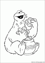 Colouring Pages Cookie Monster Coloring Book New In Concept Desktop