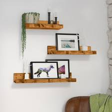Mejia Rustic Luxe 3 Piece Floating Shelf Set