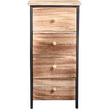 mobili schubladenschrank kommode 4 schubladen holz schwarz braun vintage wohnzimmer schlafzimmer 71 x 35 x 25 cm h x b x t