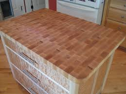 butcher block counter top with pictures