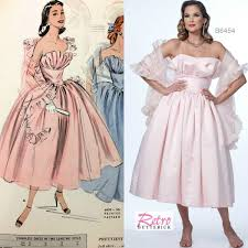 Look At This Past And Present Sew The Look Butterick B6454 Retro