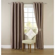 Blackout Curtain Liner Eyelet by Wilko Faux Silk Eyelet Curtains Mink 167cm X 228cm Curtains