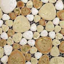 shaped mosaic collection mixed porcelain pebble tile