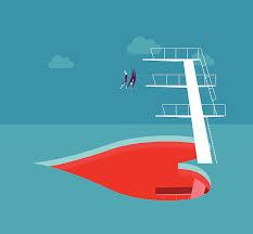 Fall In Love Vector Art Illustration Diving Board