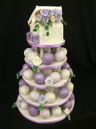 Autumn Chocolate Wedding Cake Lilac