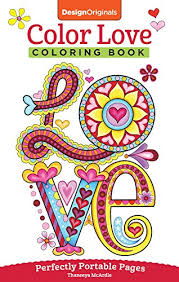 Color Love Coloring Book On The Go