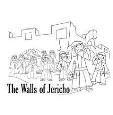 Walls Of Jericho Bible Coloring Pages Sketch Page