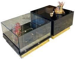 casa padrino luxus deco couchtisch dunkelbraun schwarz gold 135 x 80 x h 40 cm edler wohnzimmertisch deco möbel