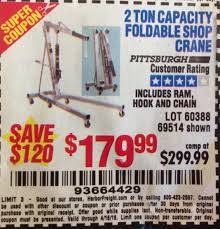 100 Harbor Freight Truck Crane Tools Coupon Database Free Coupons 25 Percent Off