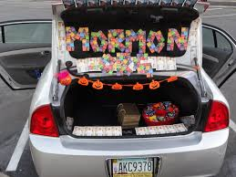 Trunk Or Treat #1 - Latter-day Saint Missionaries Here Are 10 Fun Ways To Decorate Your Trunk For Urchs Trunk Or Treat Ideas Halloween From The Dating Divas Day Of The Dead Unkortreat Lynlees Over 200 Decorating Your Vehicle A Or Event Decorations Designdiary Any Size 27 Clever Tip Junkie 18 Car Make It And Love Popsugar Family Treat Halloween Candy Cars Thornton