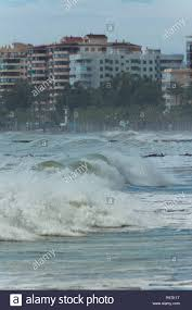 100 Benicassim Apartments Waves In Beach A Windy Day With Apartment Buildings