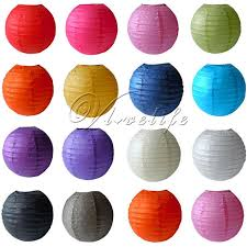 5 Round Paper Lanterns Lamp Wedding Birthday Party Decoration 8 10 12 14