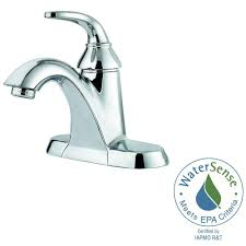 Pfister Faucets Home Depot by Pfister Pasadena 4 In Centerset Single Handle Bathroom Faucet In