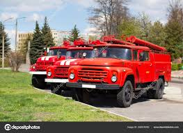 100 Old Fire Trucks Belarus Gomel April 2018 Department Russian