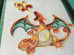 Charizard Pokemon Quilling Papercraft By Toriroz